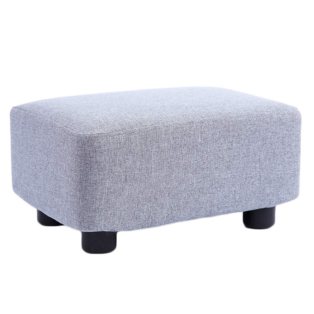 B 38x27x20cm JIANFEI Footstool Solid Wood Stool Legs High Elasticity Sponge mats Wear Resistant Load Bearing 200KG, 10 colors (color   F, Size   38x27x20cm)