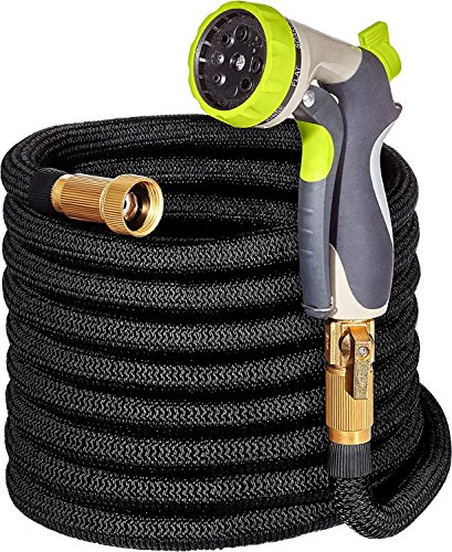 (Garden Hoses and Sprayers - NEW Expandable Water Hose with Double Latex Core, 3/4