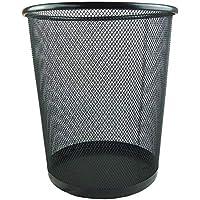 Big Christmas Gift Mesh Trash Can Waste Basket Classics Round Steel Mesh Powder-Coated Garbage Wastebasket Recycling Bin…