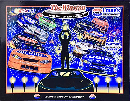 (2002 - NASCAR/Lowe's Motor Speedway - The Winston: Survival of the Fastest - Charlotte - Sam Bass Cover Art - Rare - Collectible)