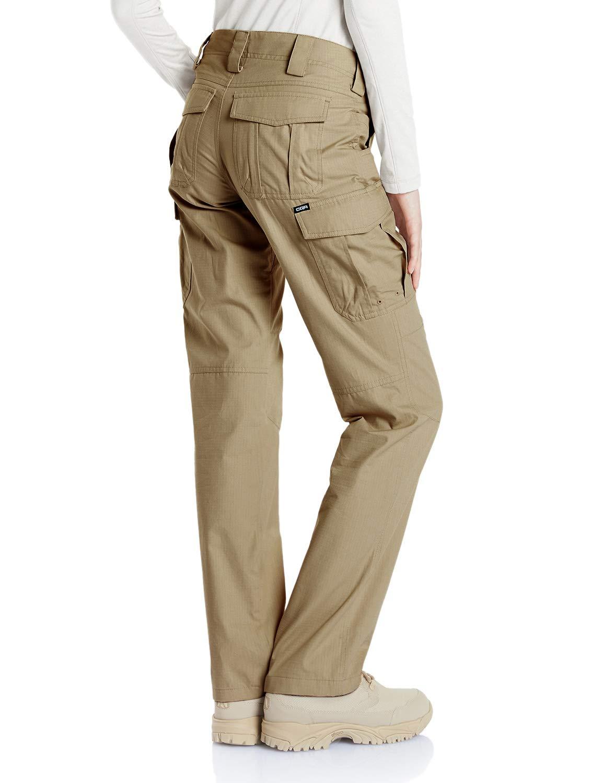 CQR CQ-WFP510-KHK_14/Long Women's Flex Stretch Tactical Long Pants Lightweight EDC Assault Cargo wiith Multi Pockets WFP510 by CQR (Image #5)