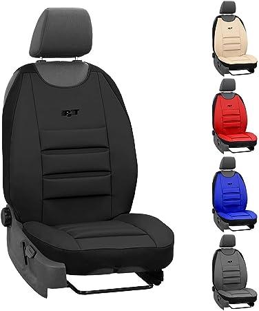 Saferide Sitzauflage Auto Vordersitze Autositzmatte Wasserdicht Autositzbezug Fahrersitz Universal Sitzschutz Kunstleder Schwarz Für Airbag Geeignet 1 Autositz Vorne Auto