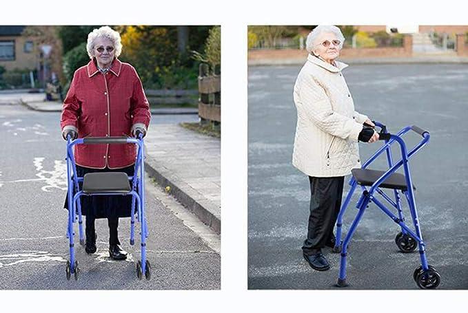 Lahshion Andador Plegable con Ruedas, Andador rodante médico ...