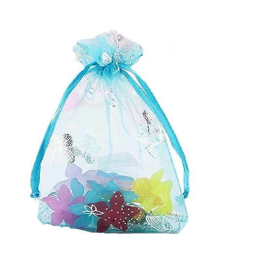 100 bolsas de organza para dulces con cierre de mariposa ...