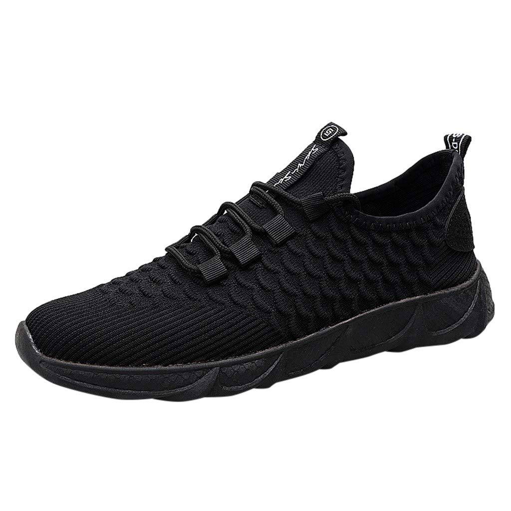 Mens Breathable Mesh Sneakers Flying Woven Dragon Scale Slip-on Lightweight Athletic Running Walking Gym Shoes by Dacawin-Men Sneakers