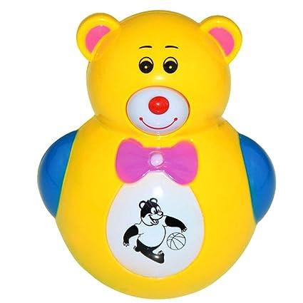 eonkoo amarillo oso juguetes música Roly Poly vaso de payaso ...