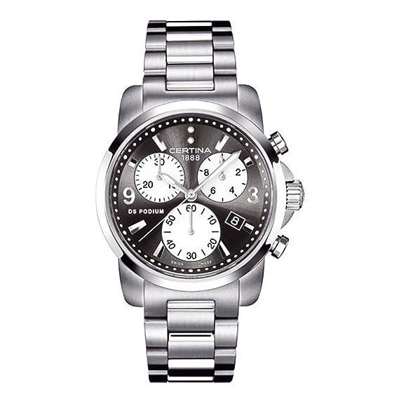 CERTINA DS Podium C001.217.11.056.00 - Reloj mujer suizo con cadena y esfera