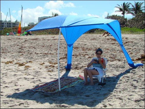 Beach Umbrella with Sand Anchor u201cBeach Sailu201d u2013 Wind Resistant Large 64 Sq Ft of Sun-Shade Portable Beach Canopy Light Weight Durable u2013 Made in the USA ... & Beach Umbrella with Sand Anchor