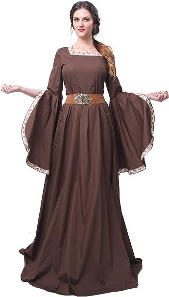 Nuotuo Women Renaissance Medieval Costume Victorian Fancy Queen Dress  Halloween Plus Size
