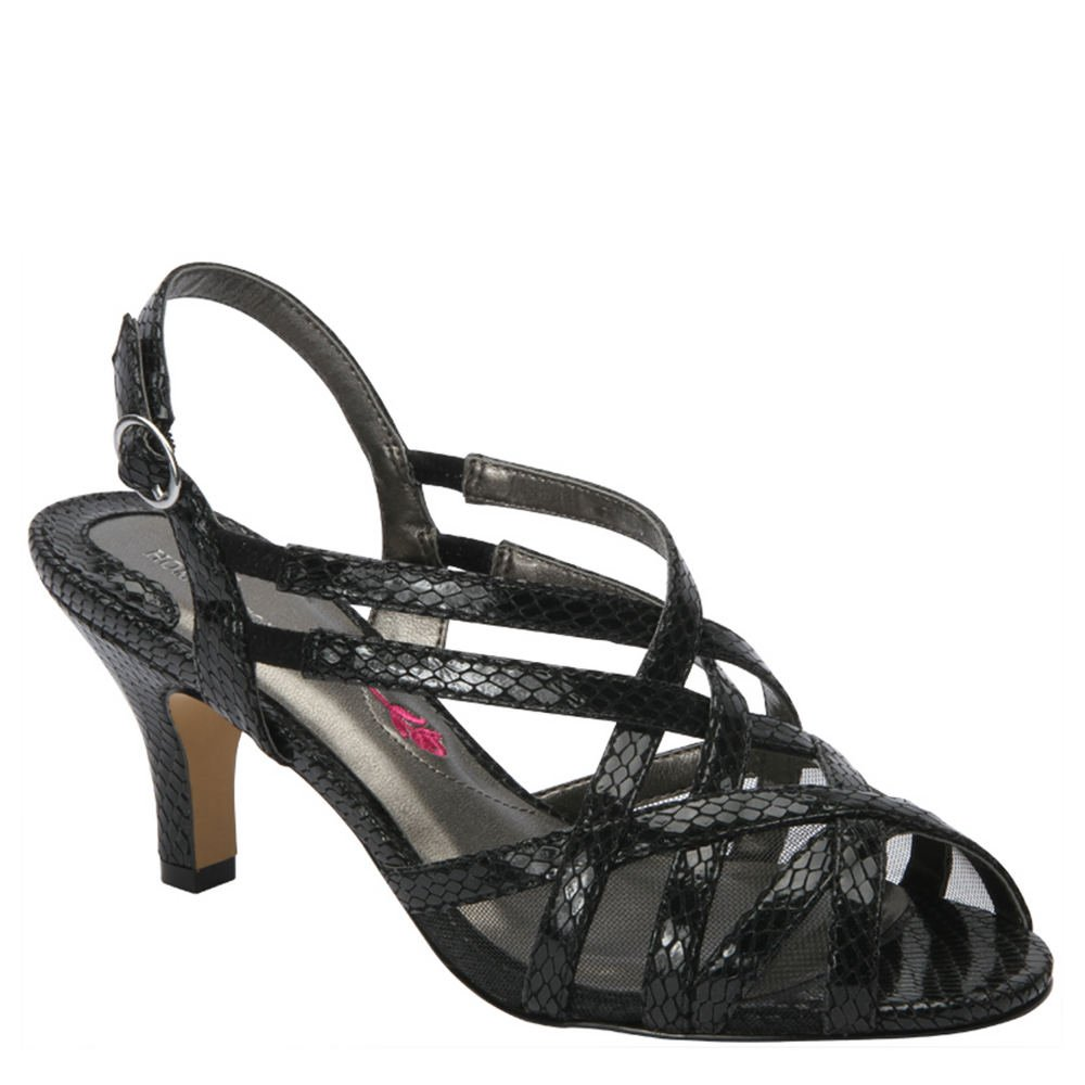 Ros Hommerson Women's Lacey Sandals B00UATDOGI 12 B(M) US|Black Snake Print