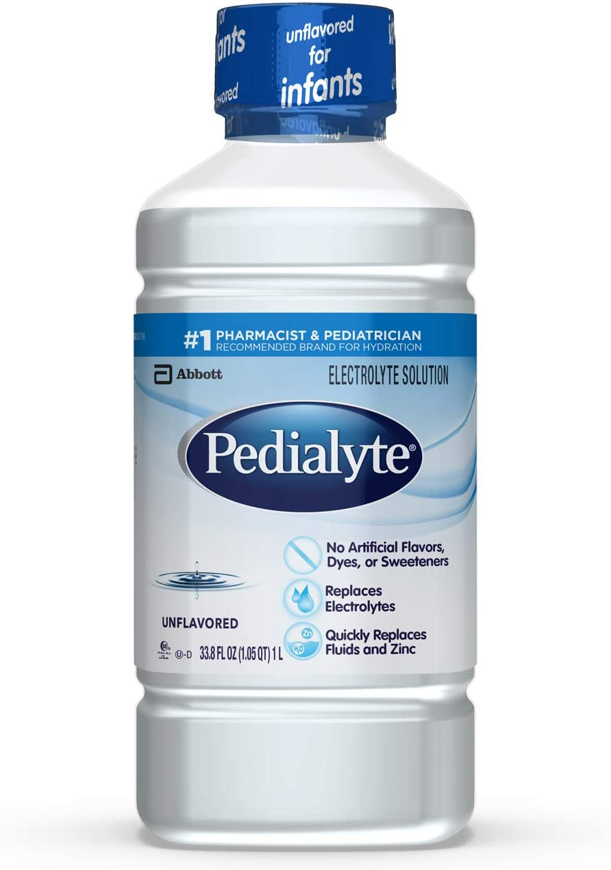 Pedialyte, Electrolyte Hydration Drink, Unflavored, 33.8 Fl Oz