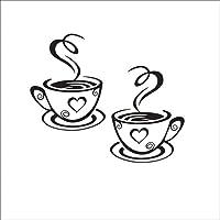Bobury Caffè Coppe Cafe Tea Wall Stickers arte decalcomania del vinile Kitchen Restaurant Pub Decor