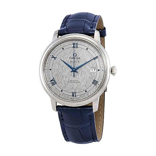 Omega De Ville 424.13.40.20.06.002 Reloj automático para Hombre, Esfera Gris: Amazon.es: Relojes