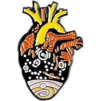 Zonfer Forma Collar De Metal Broche del Corazón Cósmico Pin Accesorio para Capa De La Chaqueta De Vestir Decoración De La Joyería