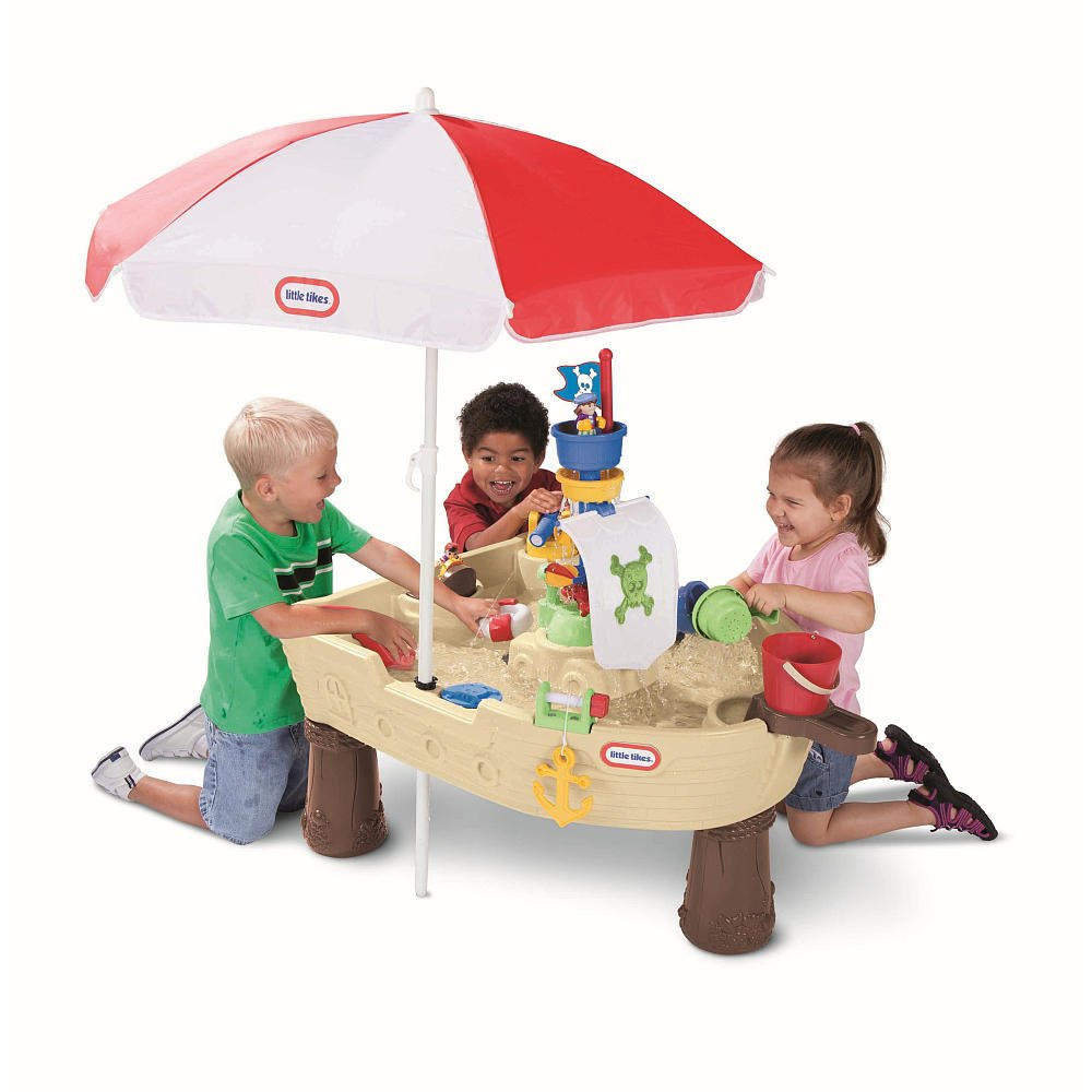 Amazon little tikes deluxe anchors away pirate ship with amazon little tikes deluxe anchors away pirate ship with umbrella toys games watchthetrailerfo