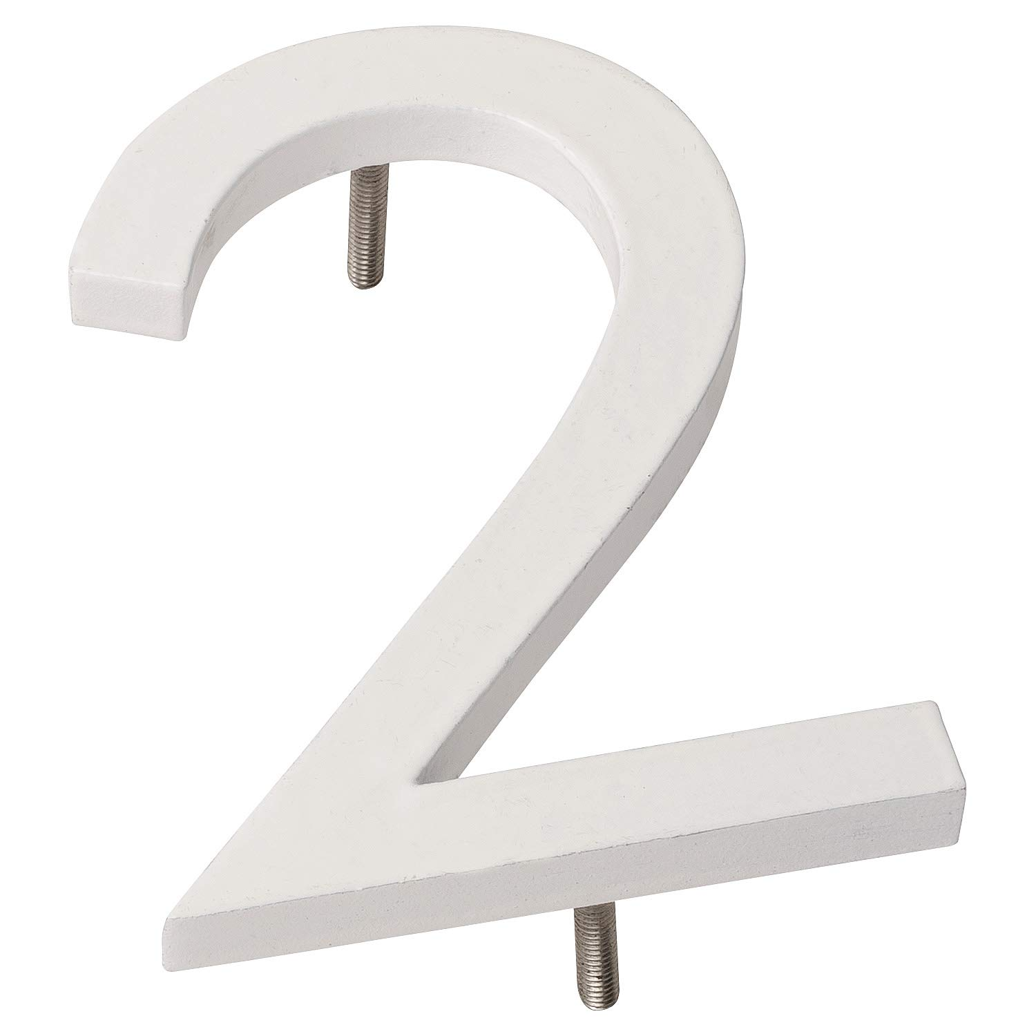 Montague Metal Products MHN-10-2-F-WE1 Floating House Number, 10 inches x 7.19 inches x 0.375 inches White
