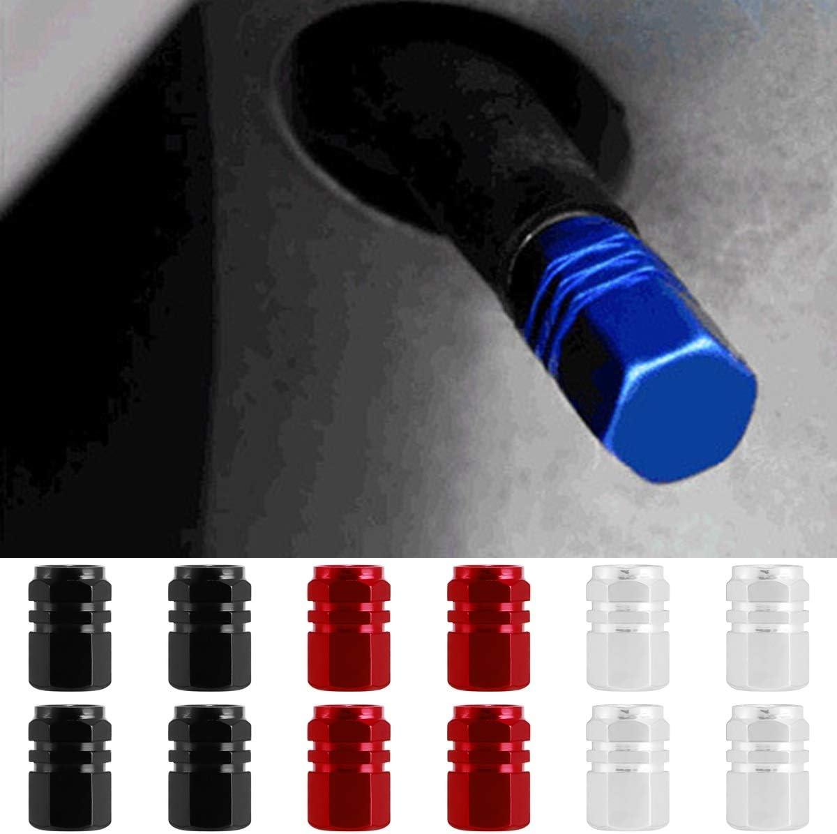 Dibiao 4 pz//pacco tappi stelo valvola della valvola universale in lega di alluminio car valvola antipolvere tappi pneumatici accessori per auto SUV camion Color : Blu