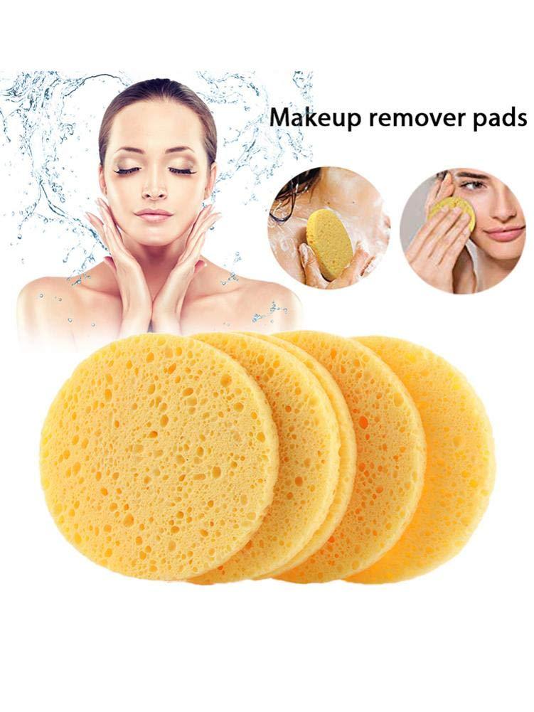 Campinery 50 Piezas de esponjas faciales celulosa Natural comprimida Limpiador Facial Exfoliante Brilliant Almohadillas//Esponjas Desmaquillantes Respetuoso del Medio Ambiente y Reutilizable