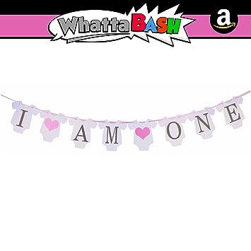 Amazon.com: I Am One - Juego de pancartas de cumpleaños para ...
