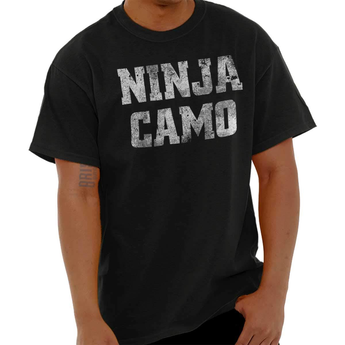 Ninja Camo Ninja Funny Humor Novelty T Shirt Tee 8393