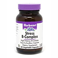 Bluebonnet Nutrition Stress B Complex Vegetable Capsules, Vitamin B6, B12, Biotin...