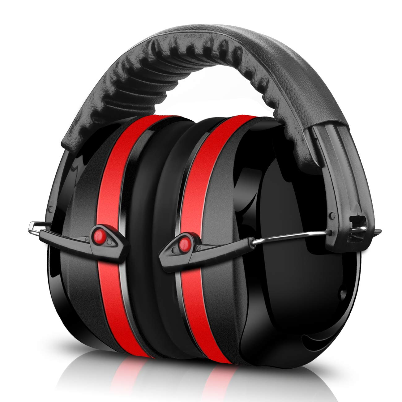 Hearing Protectors ECHTPower 34dB SNR Safety Ear Muffs Black Working Construction Ear Defenders for Adults and Kids Folding Ear Defenders for Shooting Reading Hunting