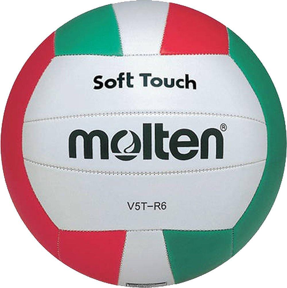 Molten Soft Touch V5T-R6 - Balón para voleibol, tamaño 5: Amazon ...