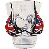 Boobs and Union Jack Bikini Shot Glass London Flag Souvenir! Souvenir / Speicher / Memoria! Cute Union Jack Shot Glass With Built-In Bikini! Verre à Shot / Schnapsglas / Colpo di Vetro / Chupito!