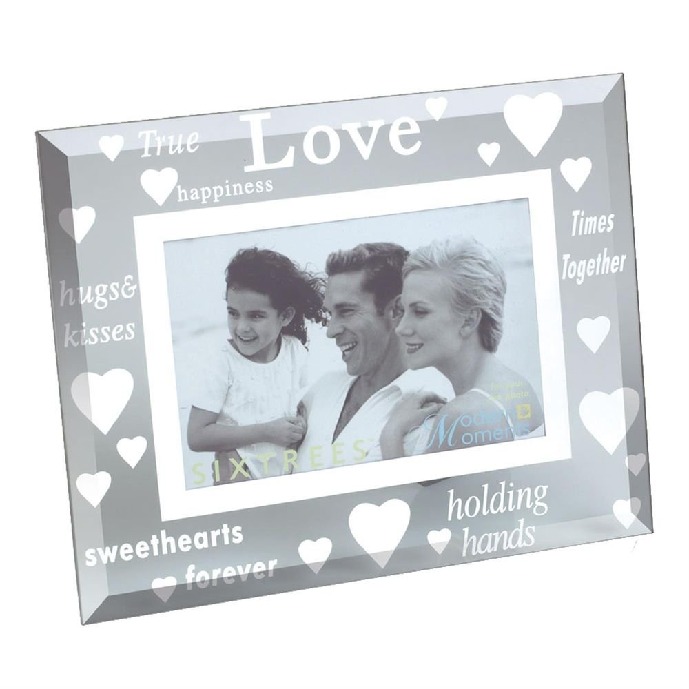 Sixtrees True Love Glass and Mirror 6x4 Photo Frame