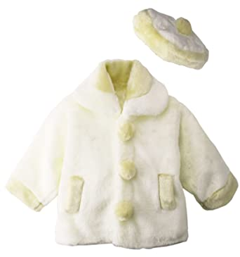 146fcbf55738 Amazon.com  Spring Notion Little Girls Faux Fur Coat with Hat  Clothing