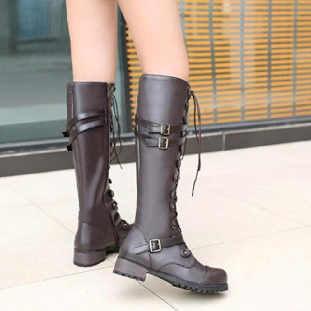 Amazon.com: Women Fashion Boots - Steampunk Gothic Vintage Style Punk Buckle Military Combat Boots: Home & Kitchen