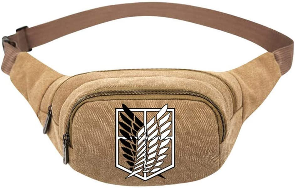 Cosstars Attack on Titan Anime Riñonera Bolso de Cintura Bolsa de Deporte Waist Pack Bum Bag: Amazon.es: Equipaje