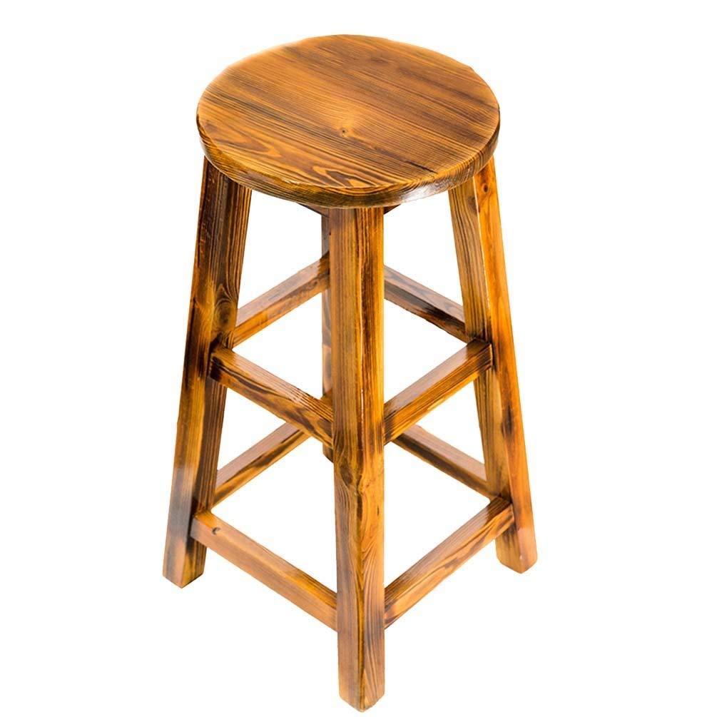 Sevenpring Modern Home Bar Chairs QFF Retro Wooden Stools, Bar Stool Bar  Counter High Stool Bar Chair Household Dining Stool 65-90cm Cool (Size :  3675cm) ...