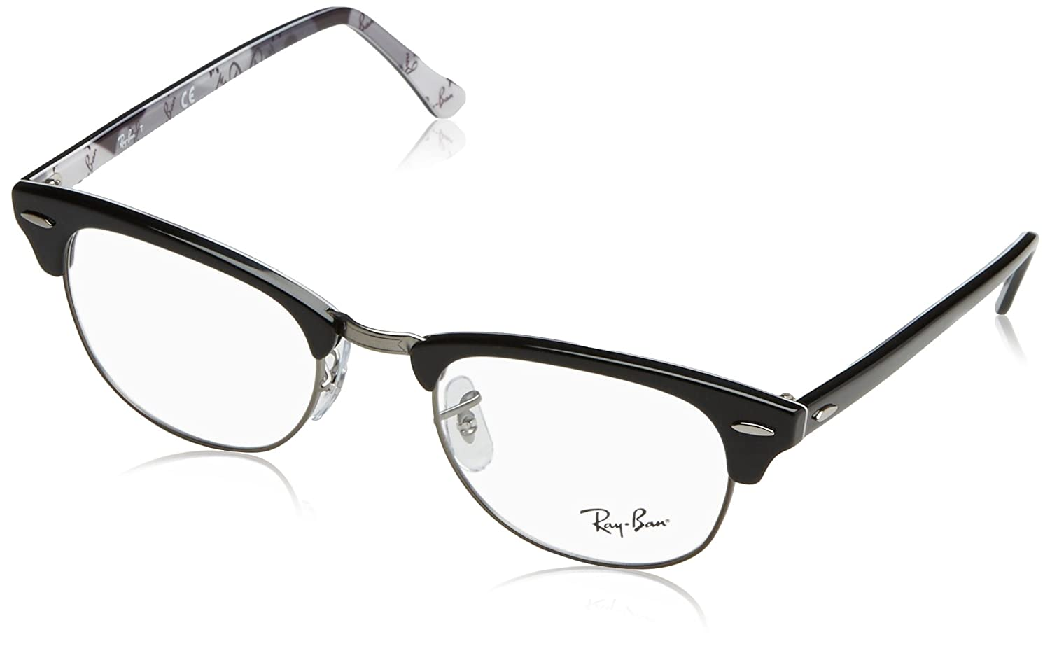 da7c8044e15 Amazon.com  Ray-Ban Clubmaster No Polarization Square Prescription Eyewear  Frame