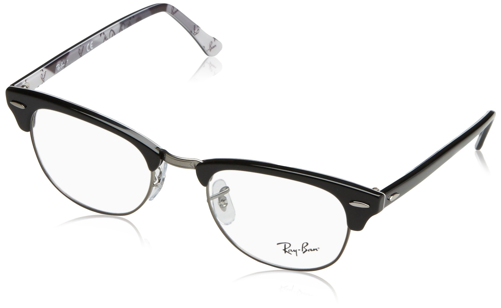 Ray-Ban RX5154 Clubmaster Eyeglasses Black on Texture Camuflage 51mm