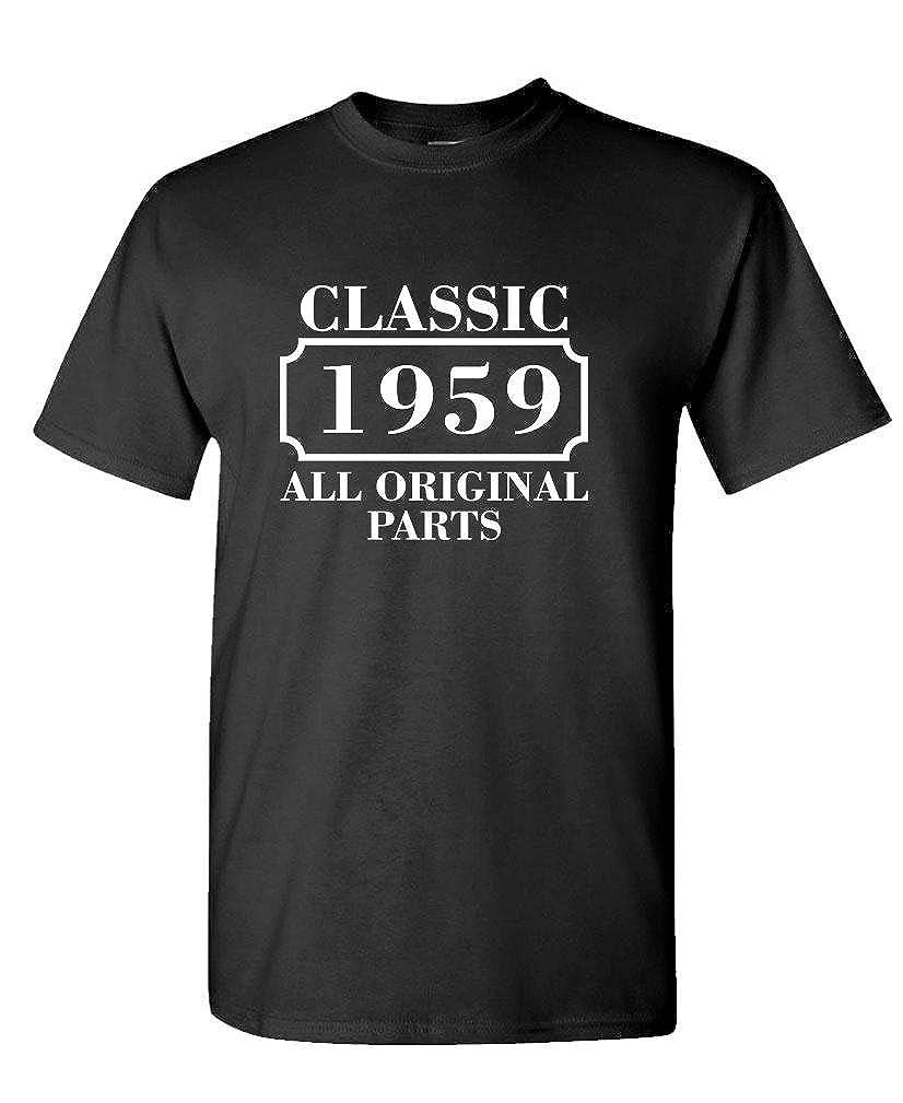 Mens Cotton Birthday T-Shirt CLASSIC 1959 ALL ORIGINAL PARTS