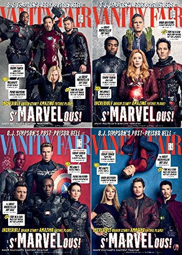 - Vanity Fair Magazine (Holiday 2017/2018) Marvel Special - All 4 Covers