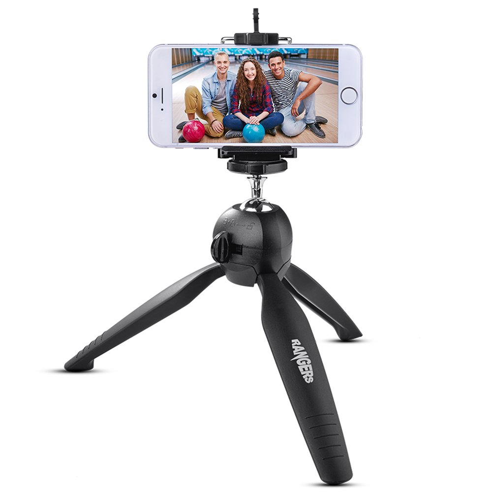 Rangers Mini Panoramic Tripod Universal 360° Rotatable Ball Head Tripod with Holder Cilp for DSLR Sports Cameras Cell Phones