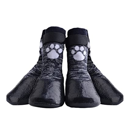 KOOLTAIL Dog Socks Anti Slip with Straps Traction Control Waterproof Paw  Protector 70ba00711e2b