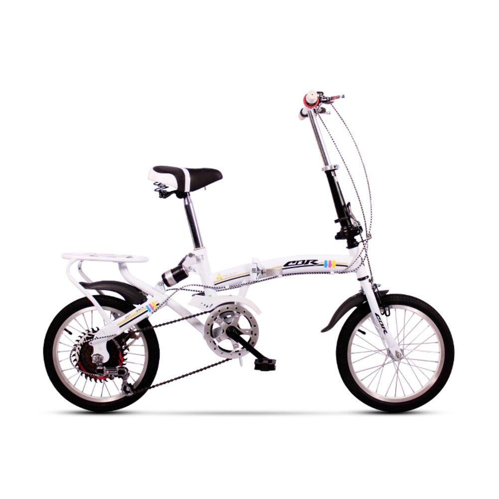 学生折りたたみ自転車, 折りたたみ自転車 レジャー 型ディスク ブレーキ 子 旅行 折り畳み自転車 B07DFF2HXZ 16inch|ホワイトB ホワイトB 16inch