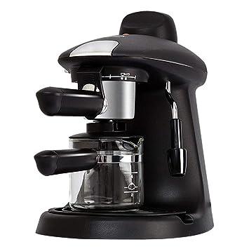 Cafetera Espresso Italiana, Máquina Profesional Para Hacer Café Espresso Y Café Capuchino Con Brazo Espumante De Leche Para El Hogar Y La Oficina,Black: ...