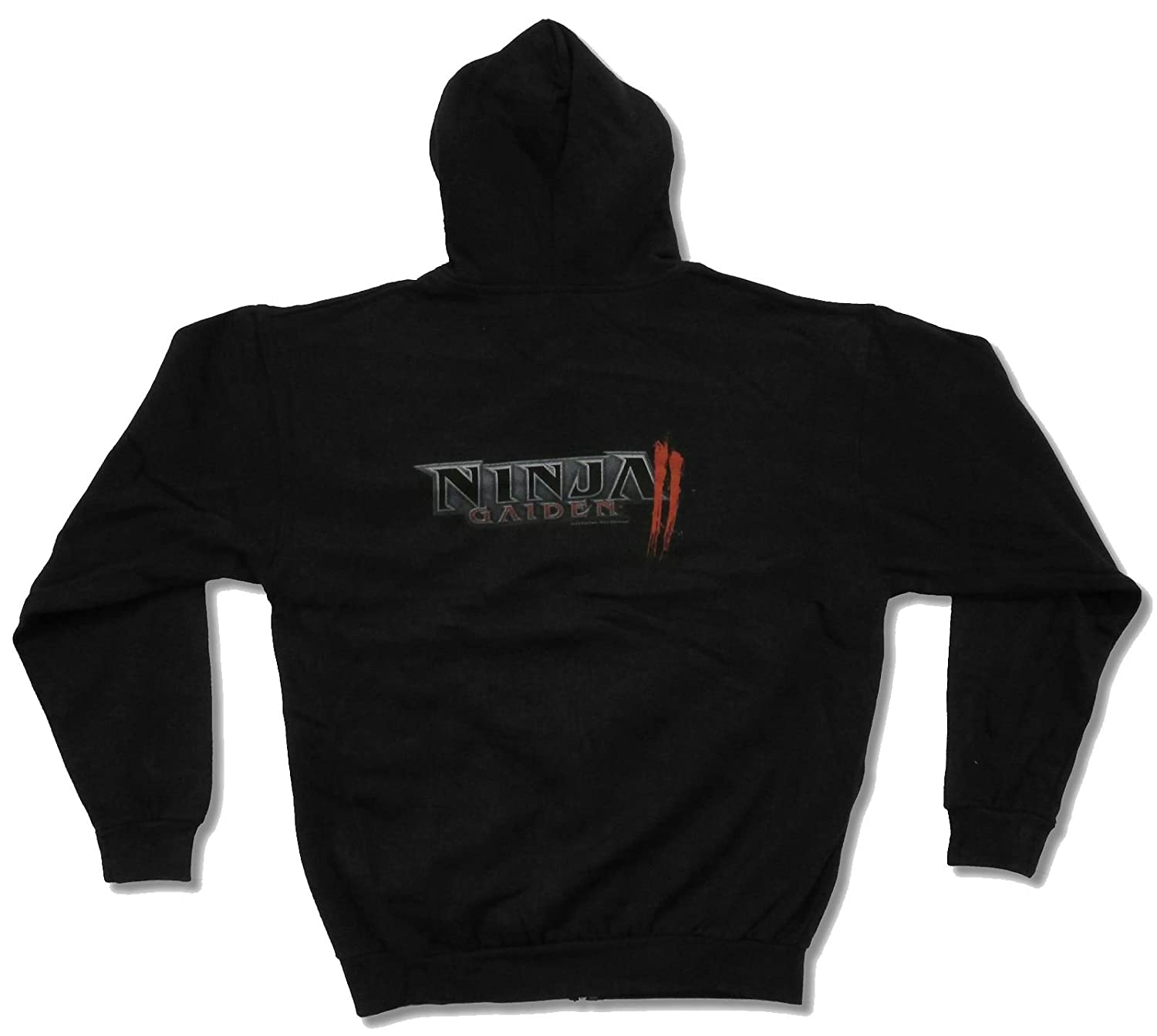 Ninja Gaiden II Logo Black Zip Hoodie Sweatshirt (Medium) at ...