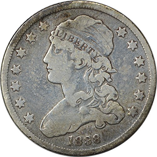 1838 Bust Quarter Choice Fine
