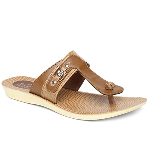 cbb002923 PARAGON SOLEA Women s Brown Flip-Flops  Buy Online at Low Prices in India -  Amazon.in