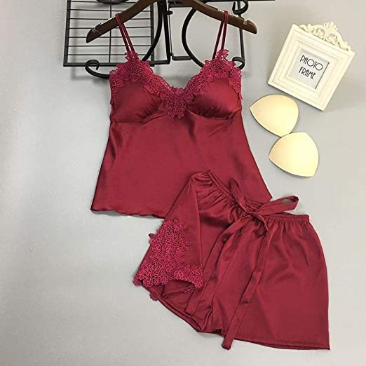 Moda Bordada para Mujer, cinturón de Espagueti, Pijama, Traje ...