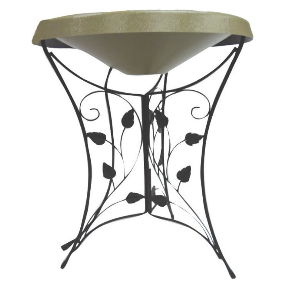 Birds Choice HPEDIL-GR Ivy Pedestal Heated Bird Bath, Medium
