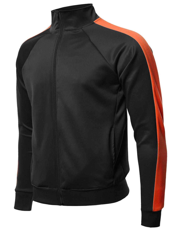 Style by William PANTS メンズ B07BKQ31FL Large|Fsmcjl0010 Black Neon Orange Fsmcjl0010 Black Neon Orange Large