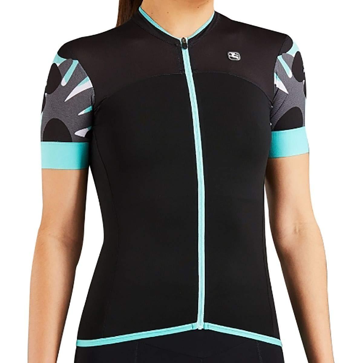 Giordana Lungo Short-Sleeve Jersey - Women's Black/Mint/Grey, XS