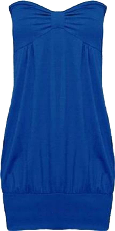 351b06e92db New Womens Plus Size Bandeau Boob Tube Tops Long Vest Tunics  Amazon.co.uk   Clothing