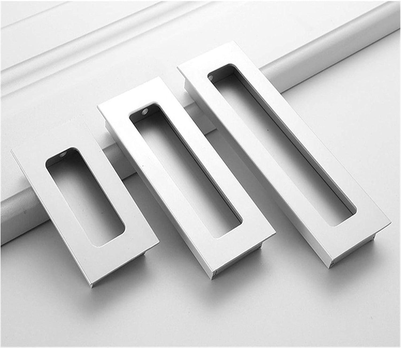 Tirador De Puerta Aleación de aluminio negro de madera del granero puertas de entrada deslizante manijas ocultas invisibles for los pomos de las puertas interiores y negro puerta de la maneta Manija d
